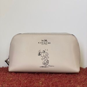 Limited Edition Coach x Peanuts Cosmetic Bag